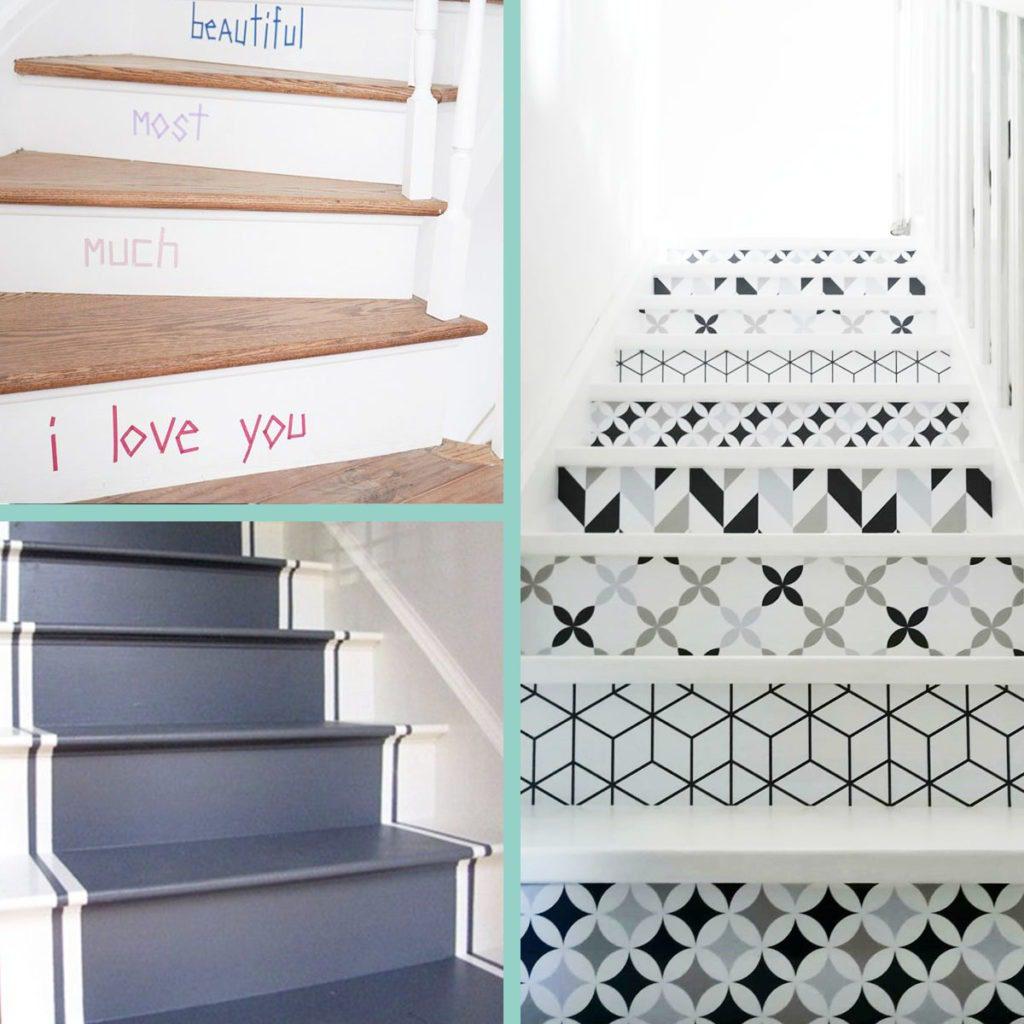 Décoratrice d'intérieur à Lyon - Décorer et customiser les marches d'un escalier