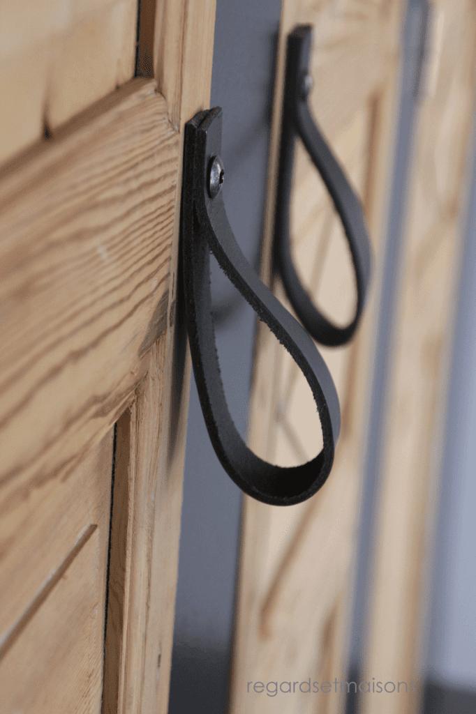 Décoration d'intérieur - Upcycling - Portes de placard avec poignées en cuir
