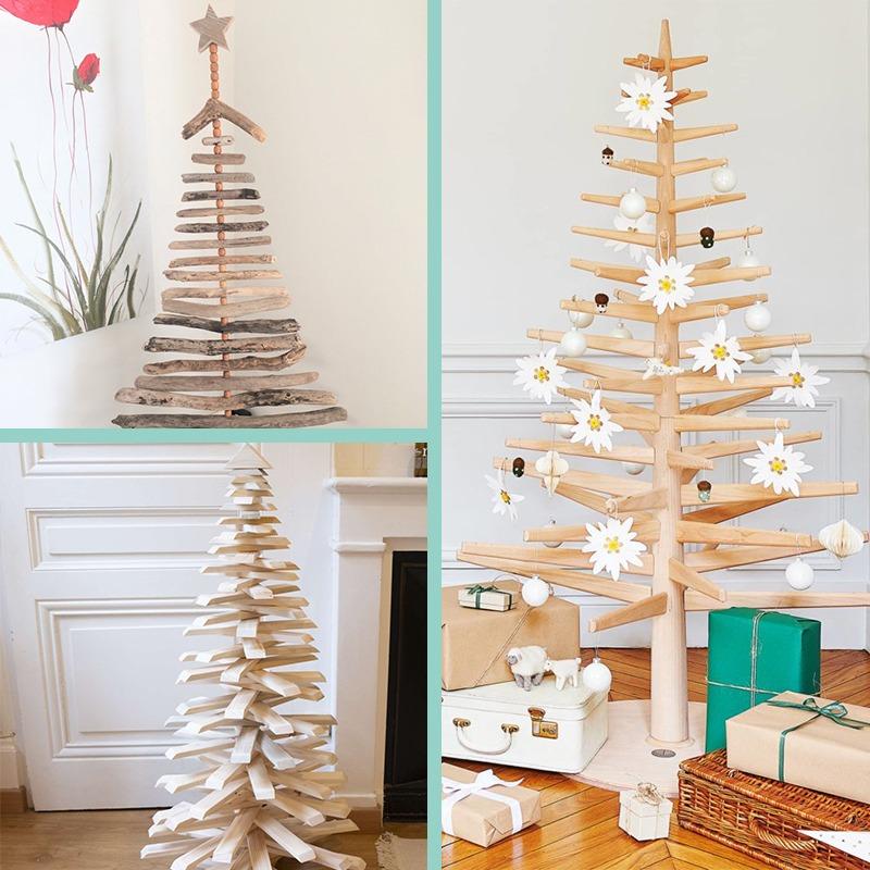 Décoratrice d'intérieur à Lyon - Sapin de Noël écoresponsable et durable en bois